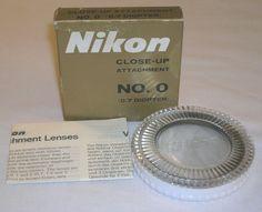 Mint Genuine Nikon Close Up Filter Attachment Lens No. 0 W/ Case, Box & Inst. NR #Nikon