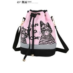 $19.43 (Buy here: https://alitems.com/g/1e8d114494ebda23ff8b16525dc3e8/?i=5&ulp=https%3A%2F%2Fwww.aliexpress.com%2Fitem%2FLovely-Cat-Prints-School-Backpack-For-Teenage-Girls-Large-Capacity-Canvas-Drawstring-Bag-Korean-Women-Bucket%2F32715714965.html ) Lovely Cat Prints School Backpack For Teenage Girls Large Capacity Canvas Drawstring Bag Korean Women Bucket Shoulder Bag 2016 for just $19.43