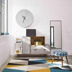 Tapijt met bontgekleurd driehoekmotief 200 x 140 cm | Maisons du Monde