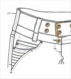 Fashion Design Template, Fashion Templates, Fashion Design Sketches, Pattern Fashion, Flat Drawings, Flat Sketches, Technical Drawings, Jeans Drawing, Drawing Clothes