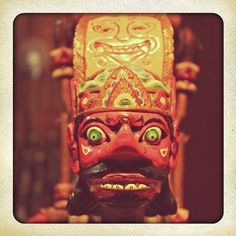 javanese puppet (collection of House of Mask and Puppets, Ubud, Bali)