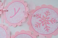 Winter Princess Birthday Tags