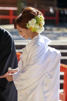 Dress Hairstyles, Wedding Hairstyles, Wedding Hair And Makeup, Bridal Hair, Wedding Kimono, Japanese Wedding, Hair Arrange, Japanese Hairstyle, Cute Beauty