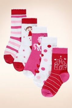 5 Pairs of Younger Girls' Cotton Rich Fairy Socks - Marks & Spencer