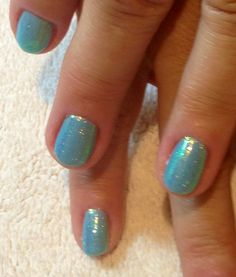 CND Shellac Azure Wish with Sea Glass Additives!