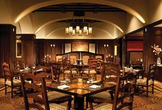 Interior dining room of Flame Restaurant at Four Seasons Resort and Residences Vail—Colorado