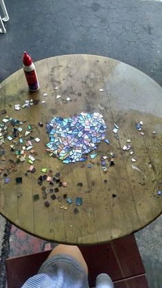 CD Mosaic Tabletop | DIY subreddit | /u/Emzul: