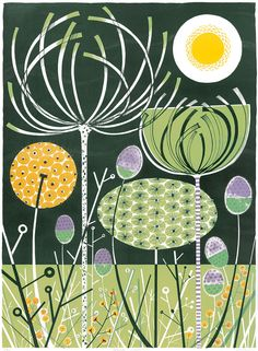 "Angie Lewin ""Wild Garden"" lithograph http://www.angielewin.co.uk/collections/sold-out-editions/products/wild-garden"