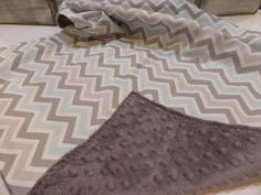 Hey, I found this really awesome Etsy listing at https://www.etsy.com/listing/187330078/mist-and-gray-chevron-baby-boy-blanket