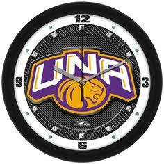 Mens North Alabama Lions - Carbon Fiber Textured Wall Clock
