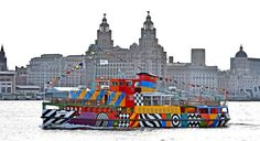 Razzle Dazzle Mersey Ferry unveiled by Sir Peter Blake - Liverpool Echo