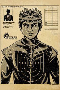 Joffrey Baratheon darts #GoT