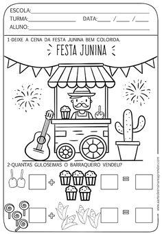 Atividade pronta - Soma com temática junina