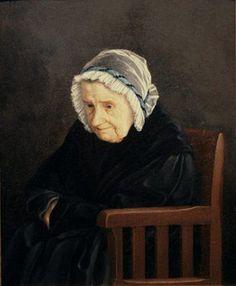 """""""Anna Christina von Wright s.Tawast"""" (grandmother), 1845 Ferdinand von Wright (1822-1906) - Haminalahden Hovin tilan omistajaksi tuli v.1760 Magnus Fredrik Tawast. Hän luovutti tilan v.1778 tyttärelleen Anna Cristina Tawastille (1751-1846) ja hänen miehelleen Jonas Mauriz von Wrightille (1727-1813). Heidän poikansa Henrik Magnus von Wright (1771-1851) oli taiteilijaveljesten isä."""