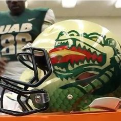 68dc520d30c Uab blazers new Dragon helmets College Football Uniforms, College Football  Season, Sports Helmet,