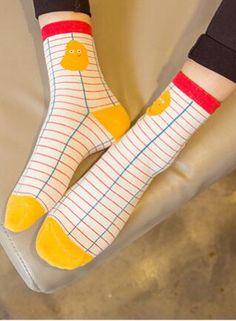 e49e0de8fb8a 1Pair Mens Novelty Socks Comfortable Men's Socks 5 Style Embroidery ...