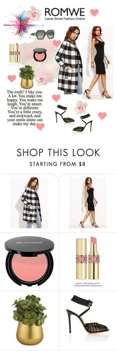 """""""Romwe beauty"""" by sudhi ❤ liked on Polyvore featuring Givenchy, Yves Saint Laurent, CB2, Gianvito Rossi and Gucci"""