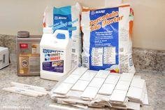 How to install a kitchen backsplash - white subway tile
