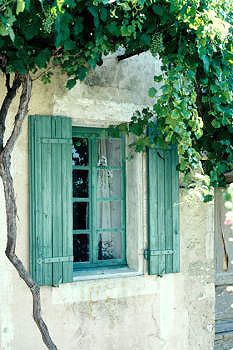 Gordes, Provence-Alpes-Côte d'Azur, France (green or blu doors and window shutters are common in all Mediterranean countries - and such is also the case of small but tough Adriatic beauty of Croatia) Old Doors, Windows And Doors, Luberon Provence, Provence France, Belle France, Halls, French Countryside, Arches, Bungalow