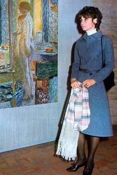 Signora Audrey Hepburn Dotti photographed during an art exhibition in Rome (Italy), on February 10, 1972.