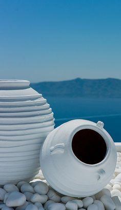 Santorini island, G r e e c e Santorini Island, Santorini Greece, Crete Greece, Athens Greece, Greek Decor, Myconos, Greek Blue, Mediterranean Style, Greece Travel