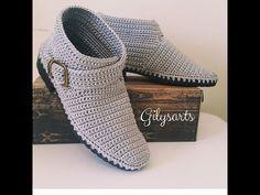 Crochet Sole, Crochet Shoes Pattern, Crochet Boots, Shoe Pattern, Crochet Slippers, Diy Crochet, Crochet Handbags, Crochet Videos, Winter Accessories