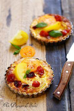 Tarte aux deux tomates - Tomatoes quiche ©Edda Onorato