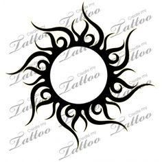 Marketplace Tattoo Tribal Sun #8219 | CreateMyTattoo.com