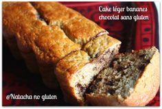 Une version légère du cake bananes chocolat tout en restant gourmand: sans gluten, sans lactose et sans beurre.