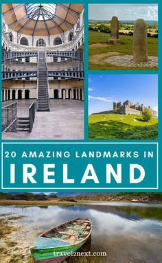 20 Incredible Landmarks in Ireland. The Republic of Ireland (or Éire in Irish Gaelic), is also called the Emerald Isle due to the national symbol of the Shamrock, which is a type of clover. Ireland Vacation, Ireland Travel, Travel Europe, Travel Destinations, Travel Tips, Travel Goals, Honeymoon In Ireland, Ireland Food, Travel Advise