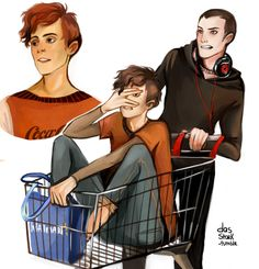 pynch<<< I don't like the corner pic but I rly love the shopping cart scene