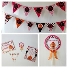 Tick or Treat Birthday Party Printable Collection by #PartyInAFile