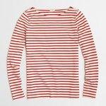 J.Crew Long-sleeve striped boatneck T-shirt