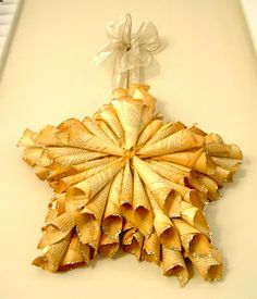 DIY:  Paper Star Tutorial - made from book pages & a star ornament.