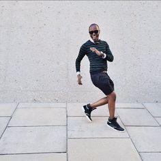 """Feel the presence all around""  Page 50.  Striped Merino Sweater / @HM Washed Secret Shirt / @Jcrew Skull Polka Bow Tie / @TiesDotCom Time Piece / @Timex Bracelets / @OurSaints Leather Belt / @Gap Sterling Shorts / @HickeyFreeman Hi Top Sneakers / @GstarRaw Beckett Sunglasses / @WarbyParker"