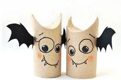 Fledermaus basteln aus Papier, Naturmaterialien u.a. Dingen - 8 Ideen