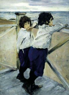 Arte Infantil Vincent Van Gogh, 1853-1890 - Children. Sasha and Yura Serov (JA, Mar18)