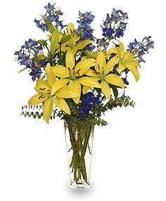 blue bonnet flowers on table | BLUE BONNET Floral Arrangement in Houston, TX - MARYS LITTLE SHOP OF ...