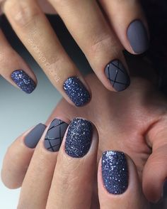 50 Geometric nail art designs for 2019 Geometric Nail Art designs are most popular nail designs aamong nail fashion because of the actuality that these Manicure Nail Designs, Nail Manicure, Nail Polish, Nails Design, Colorful Nail Designs, Nail Art Designs, Matte Nail Colors, Cute Nails For Fall, Nailed It