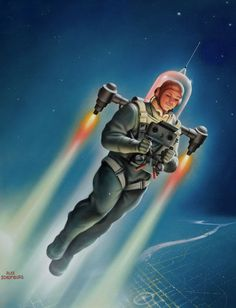 """The Cosmatomic Flyer"" by Alex Schomburg"