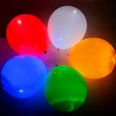 Amazon.com: Flashing Light Up LED Balloons Night Glow Disco Party Multi Color: Home & Kitchen