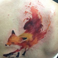 This watercolor tattoo is best design for men who want tattoo on their back. Description from tattoosme.com. I searched for this on bing.com/images
