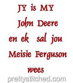 John Deere & Meisie Ferguson – Pretty Stitched