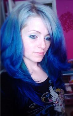 blue and silver hair