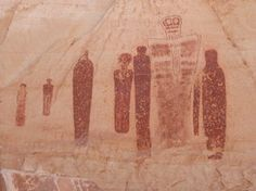 Holy Ghost pictograph panel in Horseshoe Canyon, Canyonlands National Park by Mavrick, via ShutterStock Ancient Aliens, Ancient History, Art History, Ancient Myths, Religions Du Monde, Holy Ghost, Ancient Artifacts, Ancient Civilizations, Rock Art