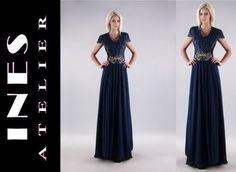 INES ATELIER -Sukienka CHARLOTTE Długa Gipiura ~54