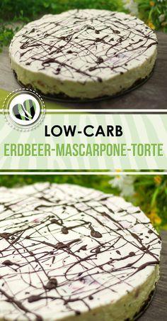 Die Erdbeer-Mascarpone-Torte kommt ganz ohne backen aus. Und ist zudem low-carb und glutenfrei.
