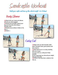 The Sandcastle Total Body workout Printable Routine! (there are two pages) did this one today!