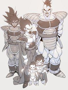 Turles, Nappa, King Vegeta, Tarble, and Prince Vegeta