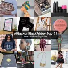 Here's a top 25 list of some of my favorite black owned online stores (in no particular order). Shop these retailers in support of #BlackonBlackFriday.